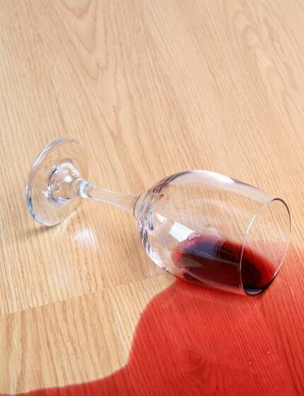laminate wine spill