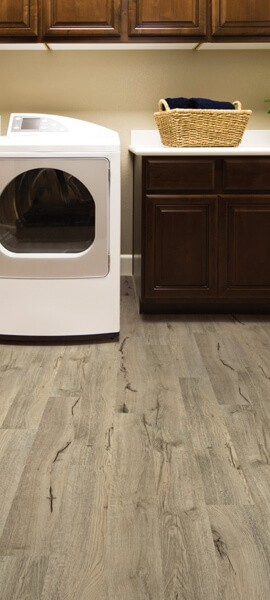 luxury vinyl laundry room
