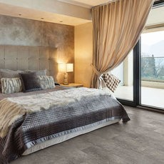 Coretec flooring of bedroom