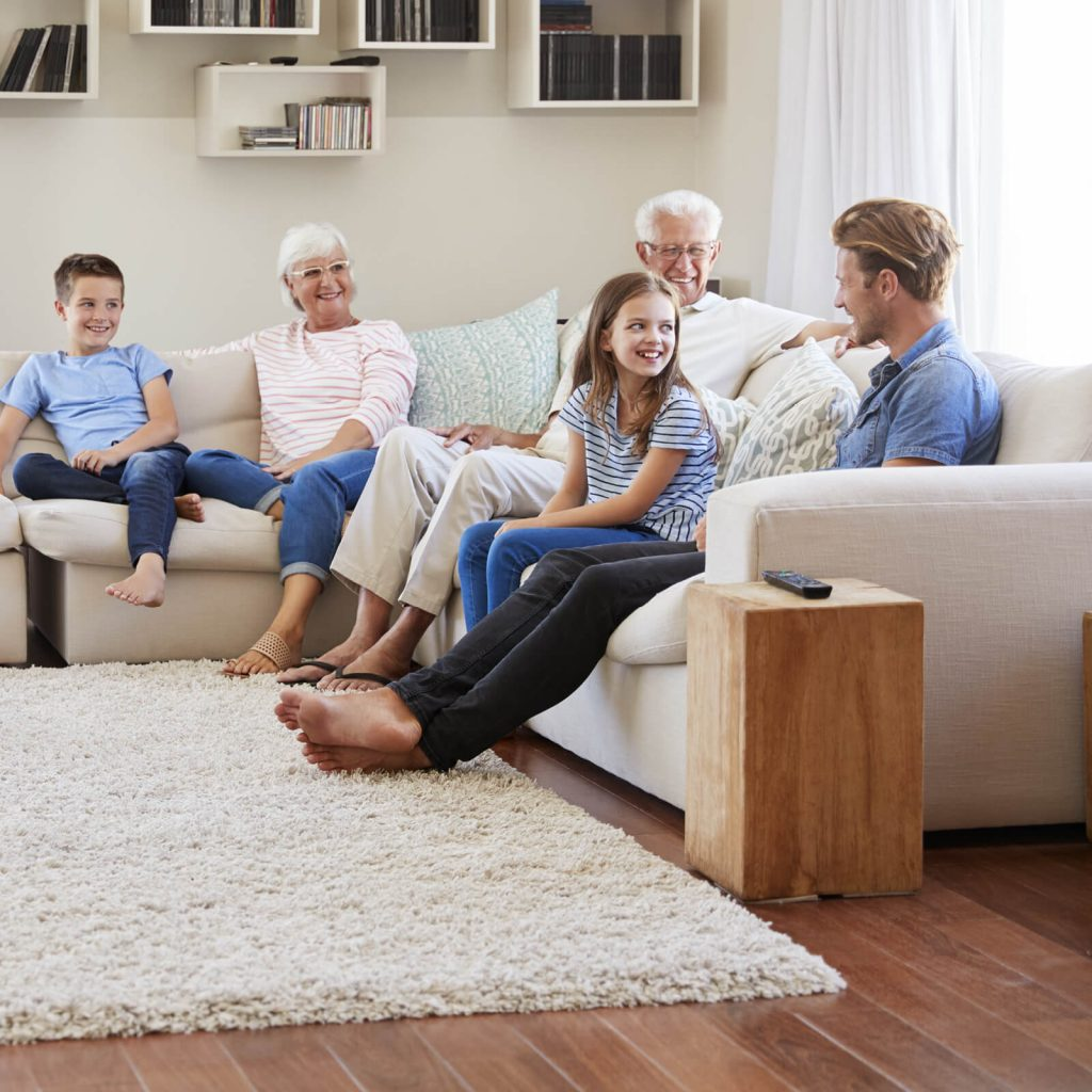 Family get together in living room | Family Floors