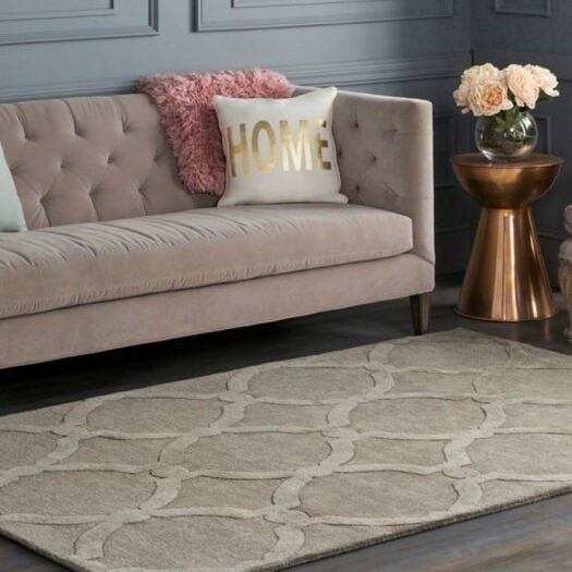 Area rugs with area pad to increase safety, extend the life of rug